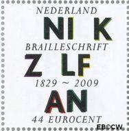 Nederland NL 2625  2009 Lees Mee- Braille 44 cent  Gestempeld