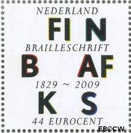 Nederland NL 2630  2009 Lees Mee- Braille 44 cent  Gestempeld