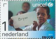 Nederland NL 2825  2011 UNICEF 65 jaar 1 cent  Gestempeld