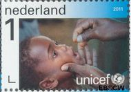 Nederland NL 2830  2011 UNICEF 65 jaar 1 cent  Gestempeld