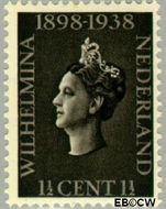 Nederland NL 310  1938 Koningin Wilhelmina- Regeringsjubileum 1½ cent  Gestempeld