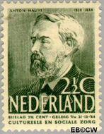 Nederland NL 319  1939 Bekende personen 2½+2½ cent  Gestempeld