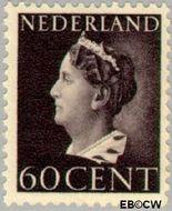 Nederland NL 345  1946 Wilhelmina- Type 'Konijnenburg' 60 cent  Gestempeld