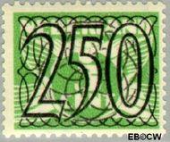 Nederland NL 372  1940 Cijfer type 'Guilloche' of ' tralie' 250 cent  Gestempeld