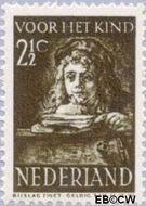 Nederland NL 398  1941 Schilderij Rembrandt 2½+2½ cent  Gestempeld