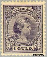 Nederland NL 44  1891 Koningin Wilhelmina- 'Hangend haar' 100 cent  Gestempeld