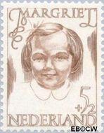 Nederland NL 457  1946 Prinsessen 5+2 cent  Gestempeld