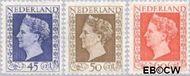 Nederland NL 487#489  1947 Koningin Wilhelmina- Type 'Hartz'   cent  Postfris