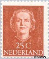 Nederland NL 525  1949 Koningin Juliana- Type 'En Face' 25 cent  Gestempeld