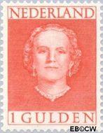 Nederland NL 534  1949 Koningin Juliana- Type 'En Face' 100 cent  Gestempeld