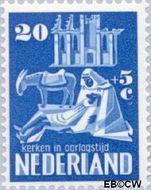 Nederland NL 560  1950 Kerken in Oorlogstijd 20+5 cent  Gestempeld