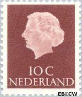Nederland NL 617  1953 Koningin Juliana- Type 'En Profile' 10 cent  Gestempeld