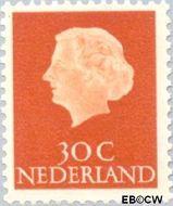 Nederland NL 624  1954 Koningin Juliana- Type 'En Profile' 30 cent  Postfris