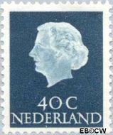 Nederland NL 627  1953 Koningin Juliana- Type 'En Profile' 40 cent  Gestempeld