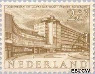 Nederland NL 655  1955 Gebouwen 2+3 cent  Postfris
