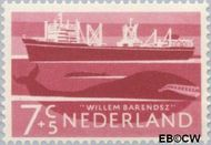 Nederland NL 690  1957 Schepen 7+5 cent  Gestempeld
