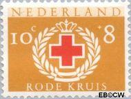 Nederland NL 698  1957 Rode Kruis 10+8 cent  Gestempeld