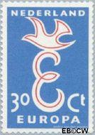 Nederland NL 714  1958 C.E.P.T.- Letter 'E' 30 cent  Gestempeld