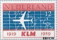 Nederland NL 729  1959 K.L.M. 12 cent  Gestempeld