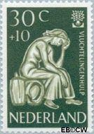 Nederland NL 737  1960 Int. Vluchtelingenjaar 30+10 cent  Gestempeld