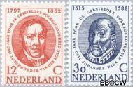 Nederland NL 743#744  1960 Int. Jaar Geestelijke Volksgezondheid   cent  Gestempeld
