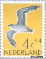 Nederland NL 752  1961 Vogels 4+4 cent  Gestempeld