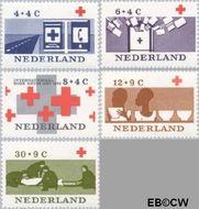 Nederland NL 795#799  1963 Rode Kruis   cent  Gestempeld