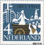 Nederland NL 807  1963 Onafhankelijkheid 4 cent  Gestempeld