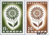 Nederland NL 827#828  1964 C.E.P.T.- Bloem   cent  Gestempeld