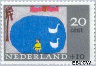 Nederland NL 852  1965 Kindertekeningen 20+10 cent  Gestempeld