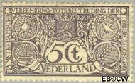 Nederland NL 86  1906 Tuberculosebestrijding 5+5 cent  Gestempeld
