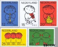 Nederland NL 932#936  1969 Kind en muziek  cent  Gestempeld