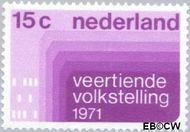 Nederland NL 984#  1971 Volkstelling  cent  Gestempeld
