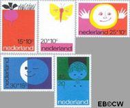 Nederland NL 996#1000  1971 Elementen van de Kinderwereld  cent  Gestempeld