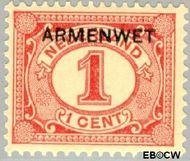 Nederland NL D1  1913 Armenwet 1 cent  Gestempeld