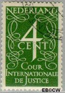 Nederland NL D26  1950 Cour Internationale de Justice 4 cent  Gestempeld