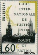 Nederland NL D49  1989 Cour Internationale de Justice 60 cent  Gestempeld