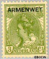 Nederland NL D5  1913 Armenwet 3 cent  Gestempeld