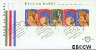 Nederland NL E278a  1990 Kind en hobby  cent  FDC zonder adres
