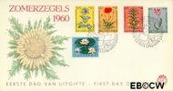 Nederland NL E43  1960 Bloemen   cent  FDC zonder adres