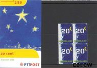 Nederland NL M239  2001 Bijplakzegel  cent  Postfris