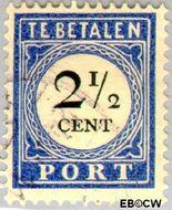 Nederland NL P16  1894 Portzegel 2½ cent  Gestempeld