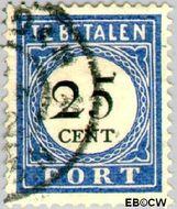 Nederland NL P26  1894 Portzegel 25 cent  Gestempeld