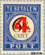 Nederland NL P29  1909 Portzegel 4 op 6½ cent  Gestempeld