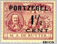 Nederland NL P33  1907 Portzegel 1½ op 1 cent  Gestempeld