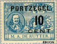 Nederland NL P38  1907 Portzegel 10 op ½ cent  Gestempeld