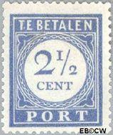 Nederland NL P47  1912 Portzegel 2½ cent  Gestempeld