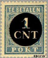 Nederland NL P61  1923 Portzegel 1 op 3 cent  Gestempeld