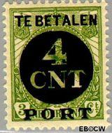 Nederland NL P65  1924 Portzegel 4 op 3 cent  Gestempeld