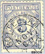 Nederland NL PW4  1884 Gebruik op postbewijsformulieren 300 cent  Gestempeld